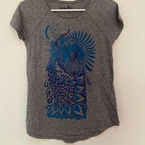 Lucky Brand peacock tee shirt